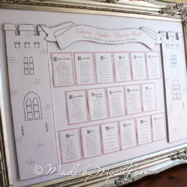 Fairytale Castle 3D Table Plan